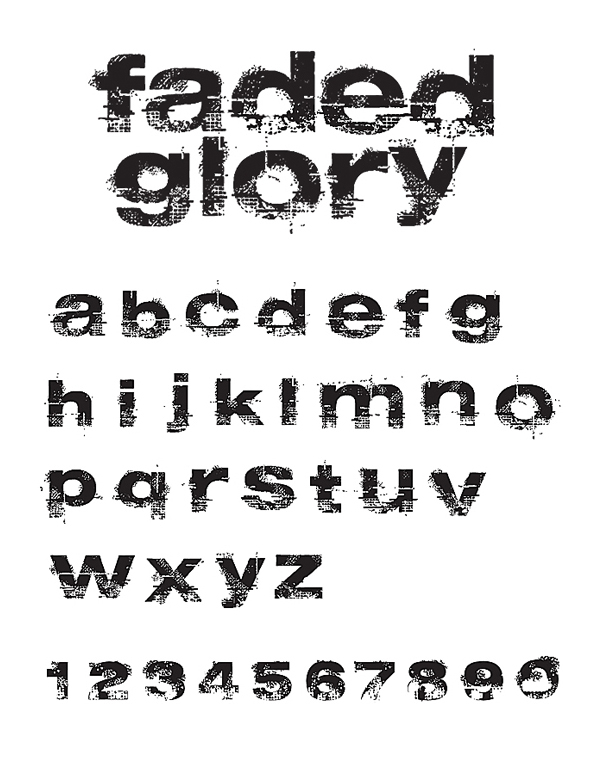 HelloFont - Vector Fonts - Faded Glory