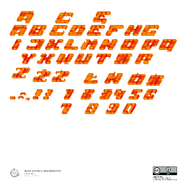 Typohole. Axonometry font 1