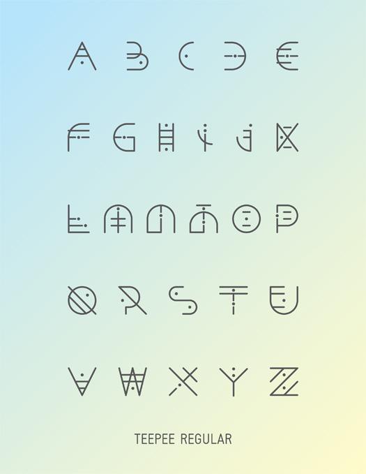 Hellofont Vector Fonts Teepee