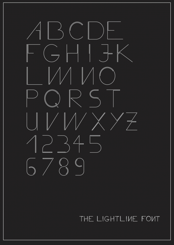 The Lightline Font