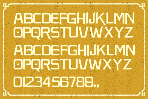 Knight Guardan typeface